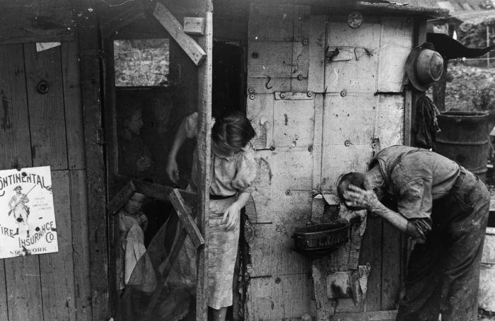 Hooverville in Central Park During The Great Depression