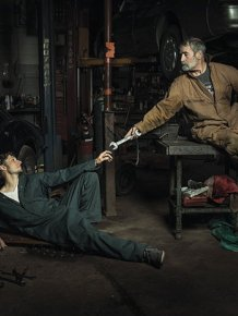 Awesome Auto Mechanics Recreate Renaissance Paintings