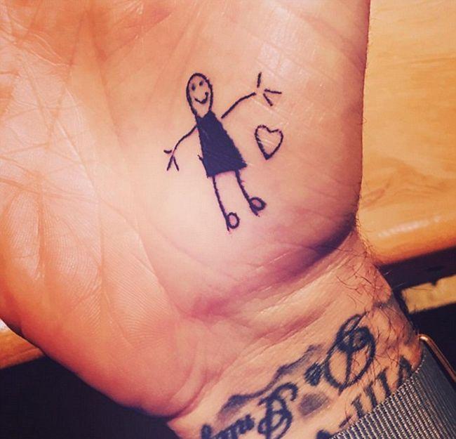 David Beckham Shows Off His New Tattoo