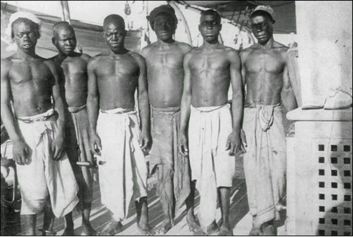 Vintage Photos Show Slave Shackles Being Removed By British Sailors
