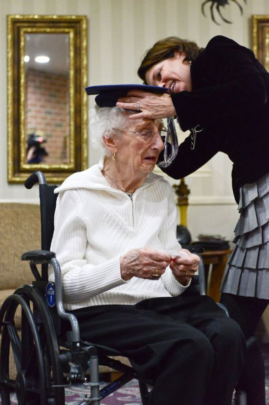 Woman Cries Tears Of Joy After Getting Her High School Diploma At 97 Years Old