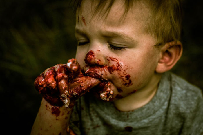 Baby Gets Turned Into A Zombie For His First Birthday