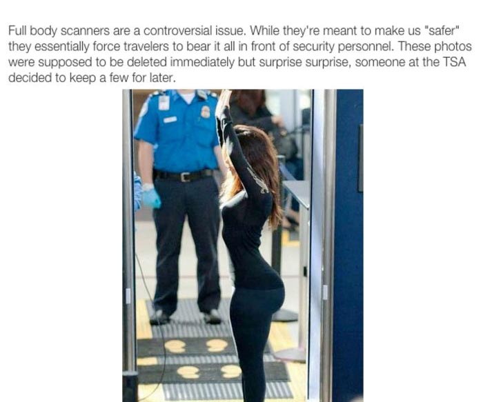 It Turns Out Nothing's Really Private About Full Body Scan Images At The Airport