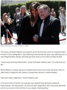 Robin Williams' Widow Reveals Why He Took His Own Life