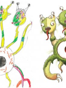 Artists Turns Kids' Monster Doodles Into Works Of Art