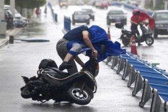 Typhoon in Shanghai