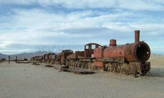 Train Graveyard in Bolivia