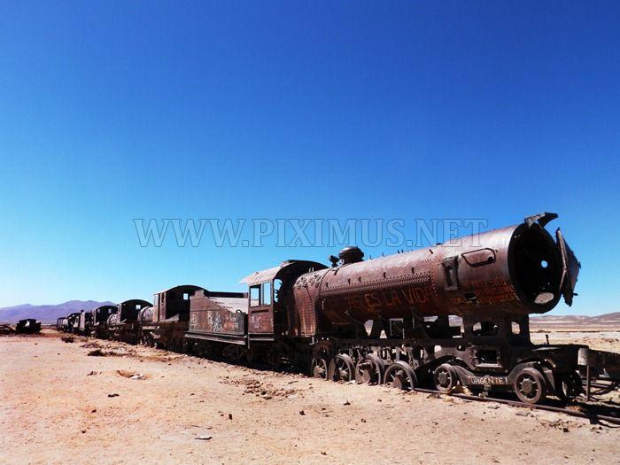Train Graveyard in Bolivia