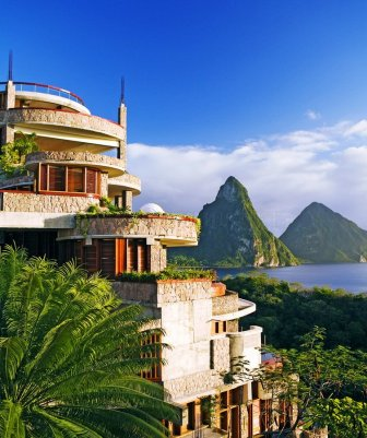 Hotel Jade Mountain - luxury in the Caribbean