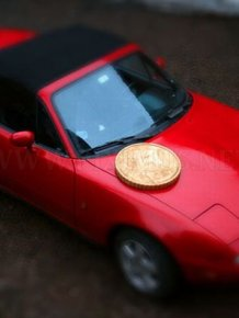 Giant Euro Cent Coin To Make Fake Miniatures
