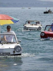 The 26th meeting of car enthusiasts amphibians in Switzerland