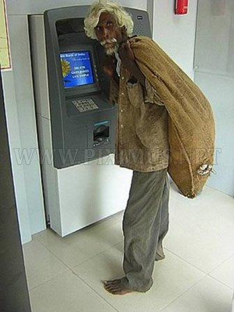 People at ATM