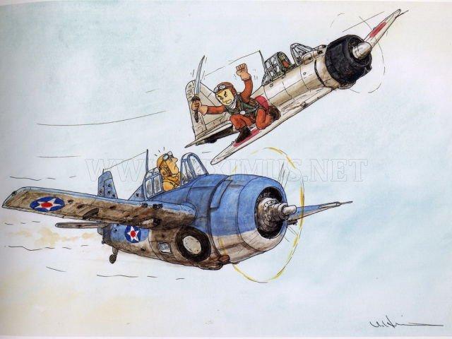 World War Ii Japanese Zero Fighter Art