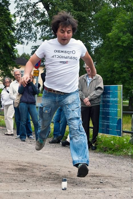 Cell Phone Throwing Contest in Finland