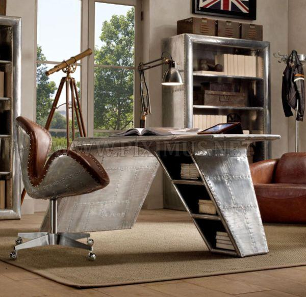 Modern Aviator Wing Desk from Restoration Hardware