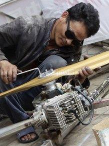 Chinese Farmer Creates Homemade Flying Saucer