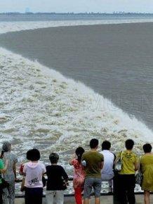Surging Tide of Qiantang River