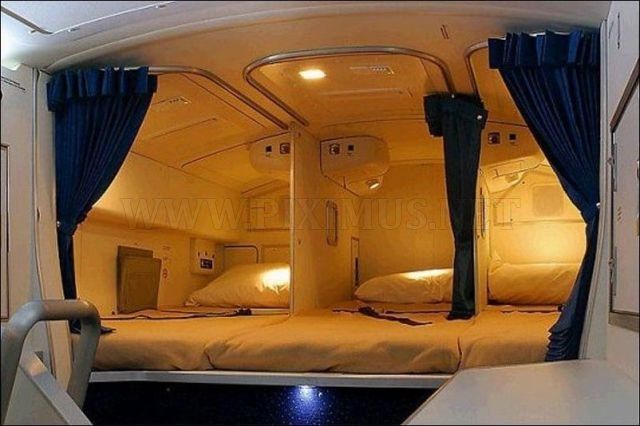 Airplane With Cozy Beds
