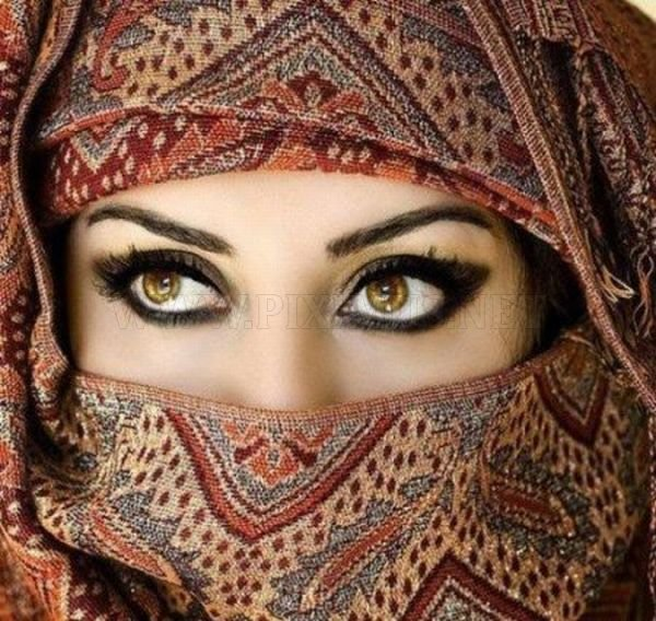 Beautiful Woman Lips and Eyes