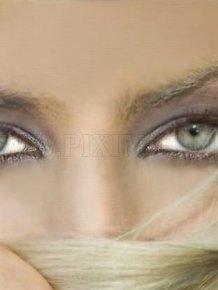 Beautiful Woman Lips and Eyes