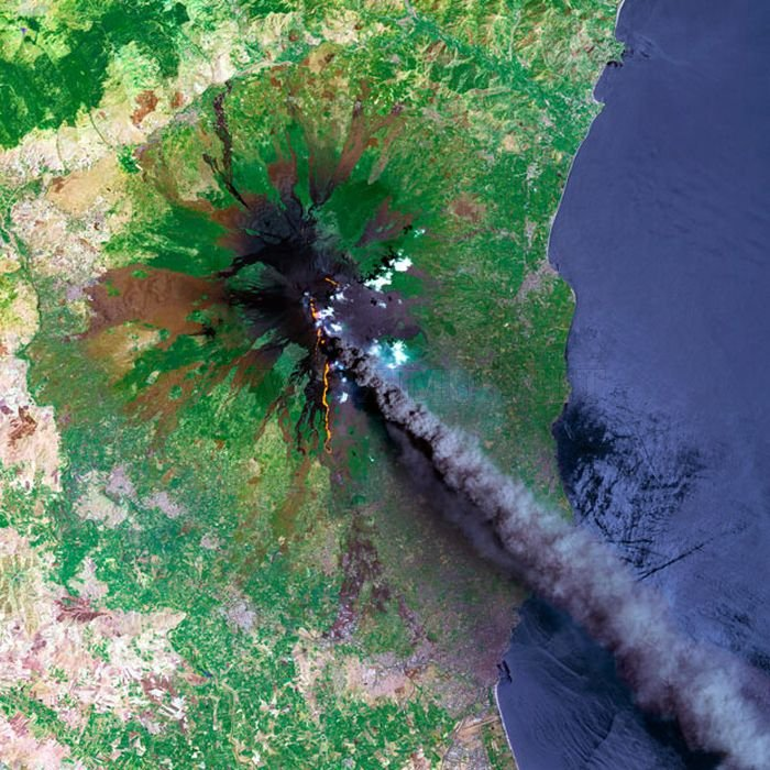 Amazing Volcano Photos From Space