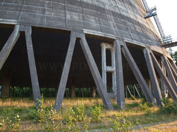 Abandoned Satsop Washington Nuclear Plant in Tacoma