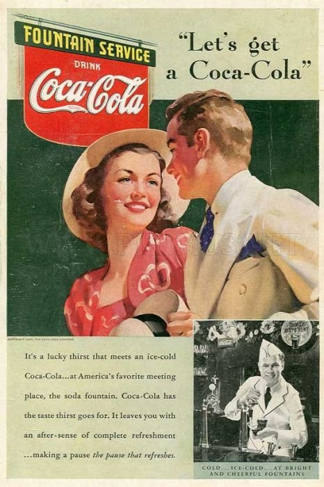 Awesome Vintage Coca Cola Advertisement Posters