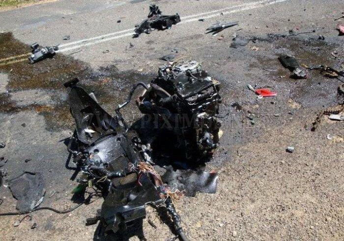 Crash of Kawasaki ZX-14