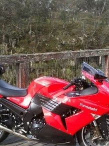 Crash of Kawasaki ZX-14