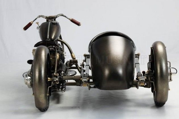 Motorcycle in Roman style