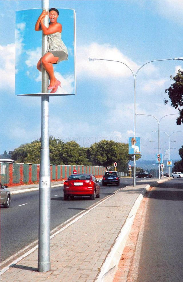 Genius Street Pole Advertising Art