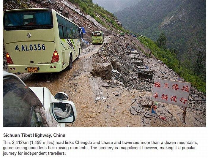 Most Dangerous Roads Around The World