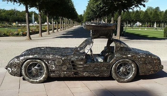 Cool mercedes benz collected from pieces of iron vehicles for Mercedes benz iron