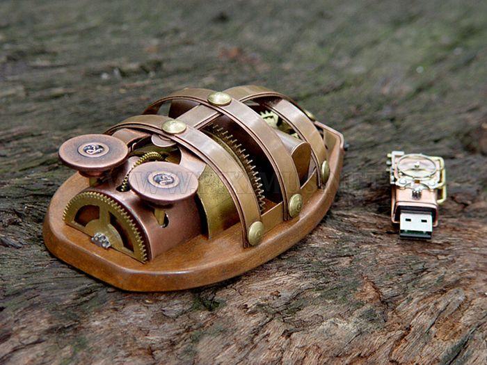 Rhombus Maximus – Wireless Steampunk Mouse