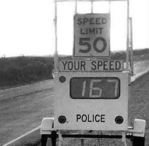 Funny speed limits signs