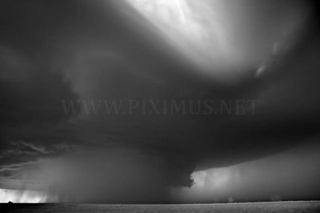 Black and white Tornado photography