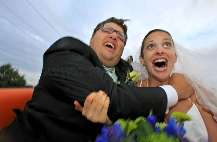 Wedding Ceremony on a Roller Coaster