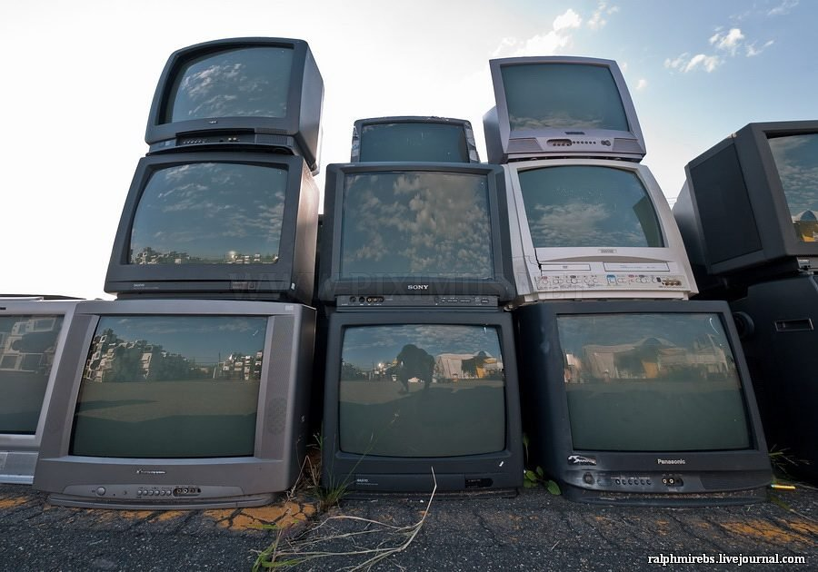 Graveyard for old technics in Japan