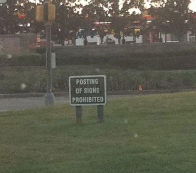 Hilarious public signs