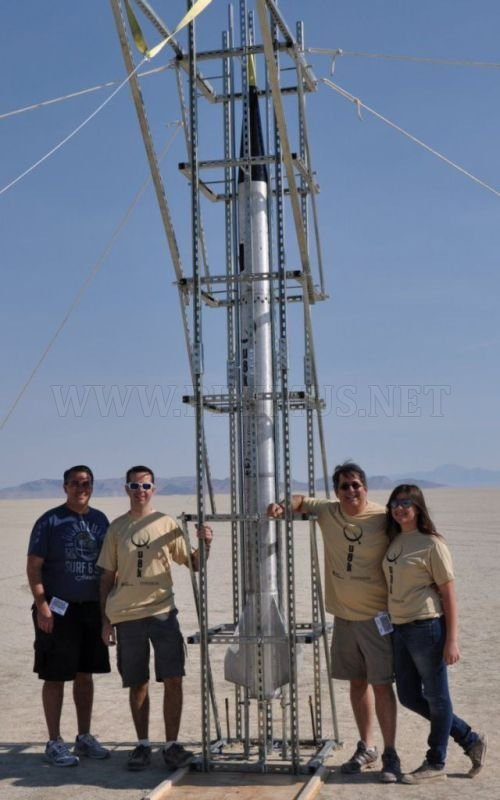 Homemade rocket makes its way to space