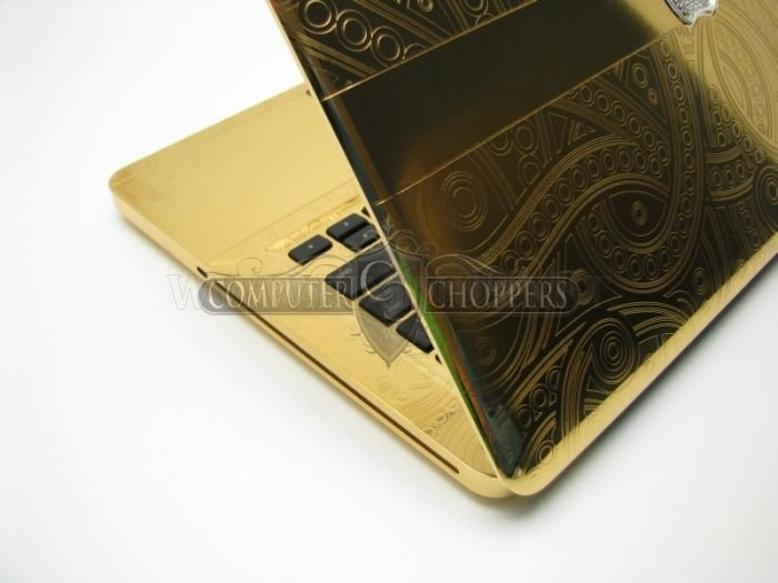 24kt Gold & Diamonds Graphic-Plated Macbook Pro
