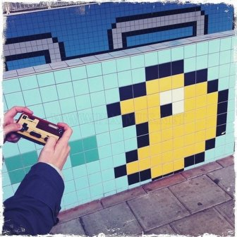 Awesome 8-bit Subway Station in Stockholm