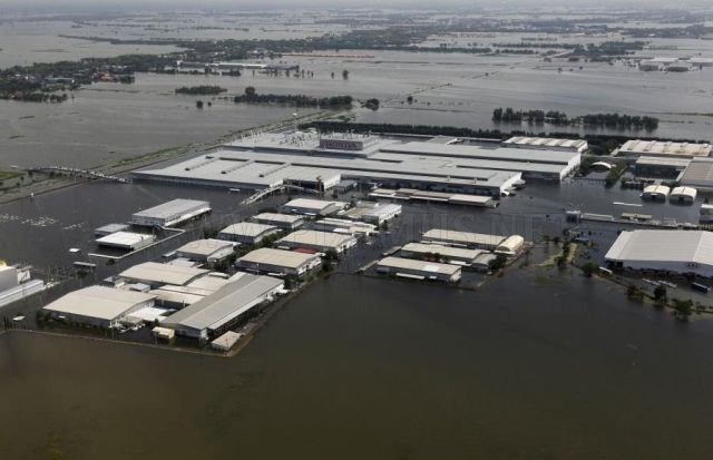 Honda factory in Thailand were flooded