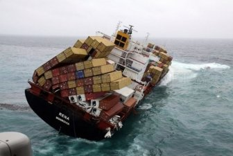 Container Ship Ran Aground