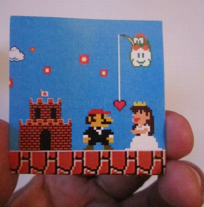 Super Mario Wedding Invitation