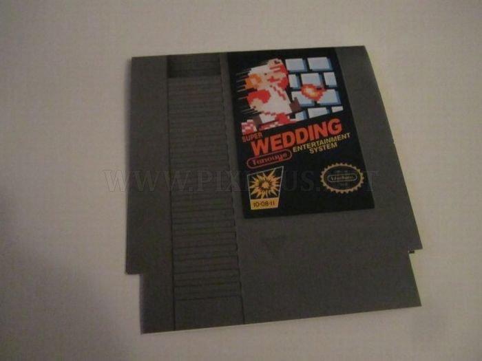 Super Mario Wedding Invitation