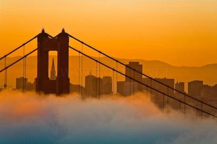 The famous fog of San Francisco