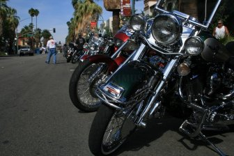 Motorcycles and sunlight - moto fest 'American Heat'