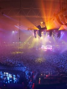 Amazing Light Show Rave Parties