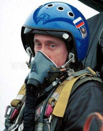 Vladimir Putin in action